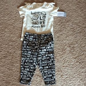 2 pc- 9 month Baby Girl Outfit